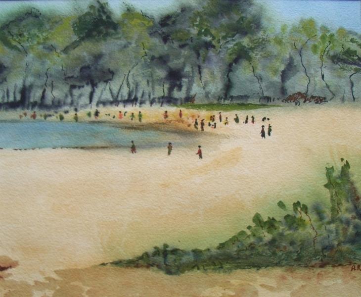 Noosa Beach QLD H35 x W42 cm Watercolour 2013 copy.jpg