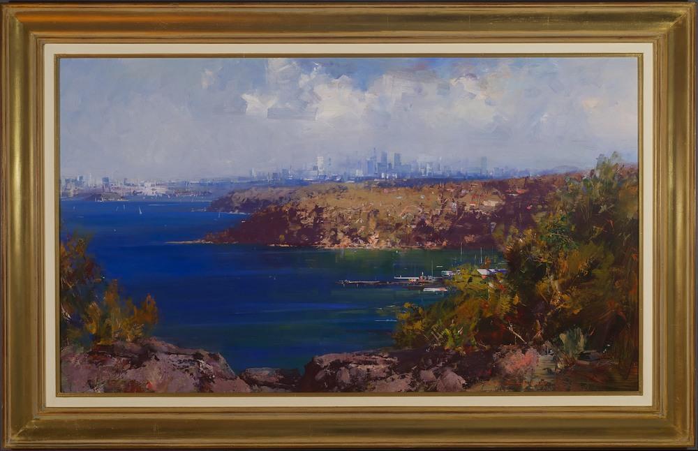 #13973 Ken Knight 'Sydney Harbour from Georges Heights' 84cm x 130cm $9800.jpg