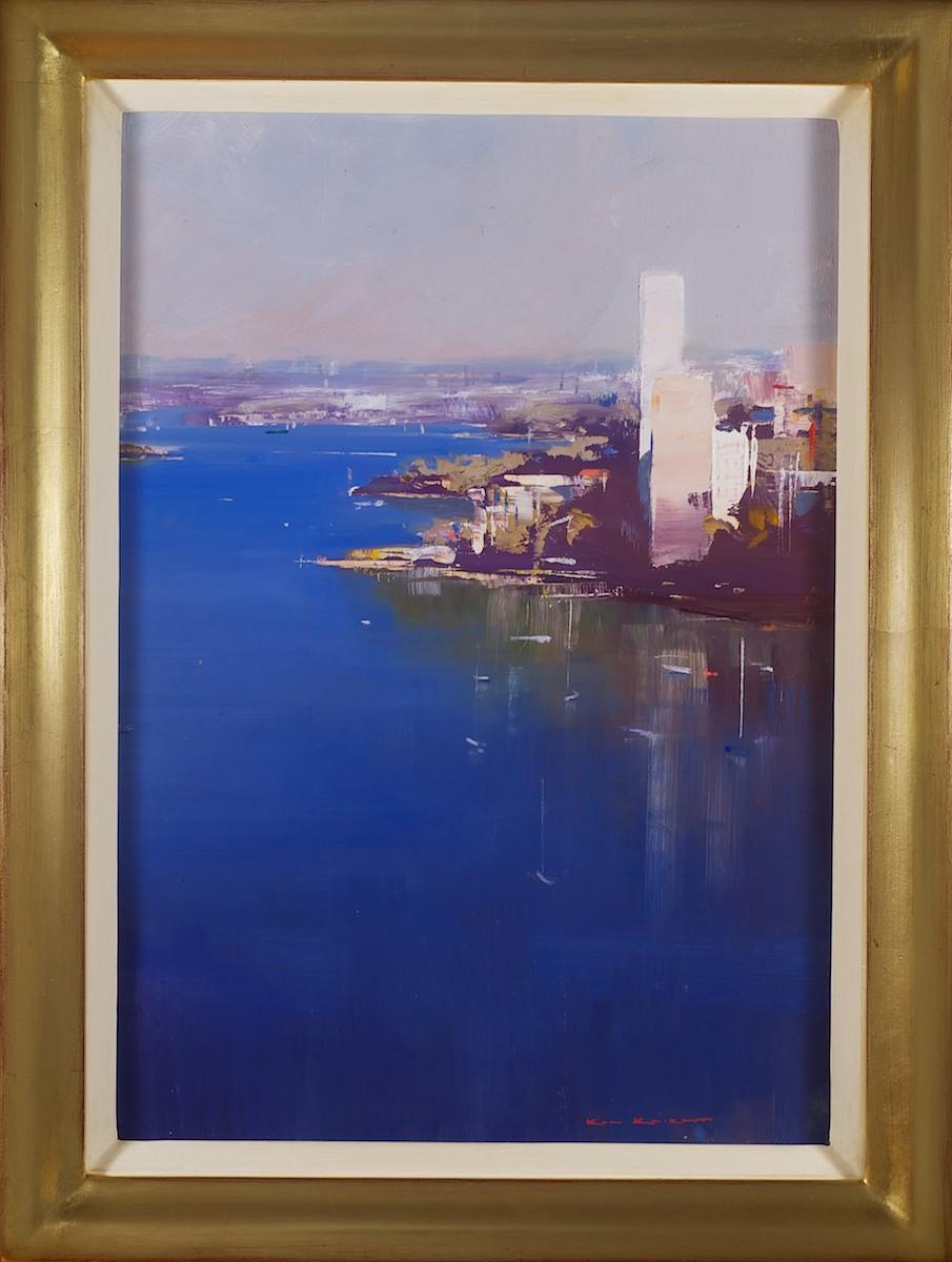 #14175 Ken Knight 'Sydney Harbour Lavender Bay' 59cm x 44cm $4800.jpg