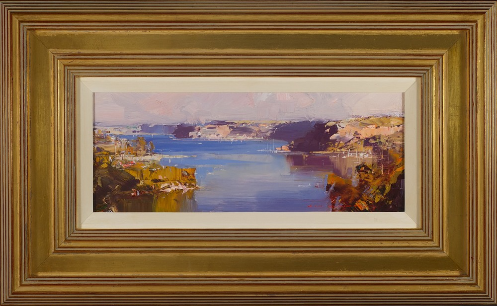 #14182 Ken Knight 'Evening approaches, Middle Harbour' 37cm x 60cm $2800.jpg