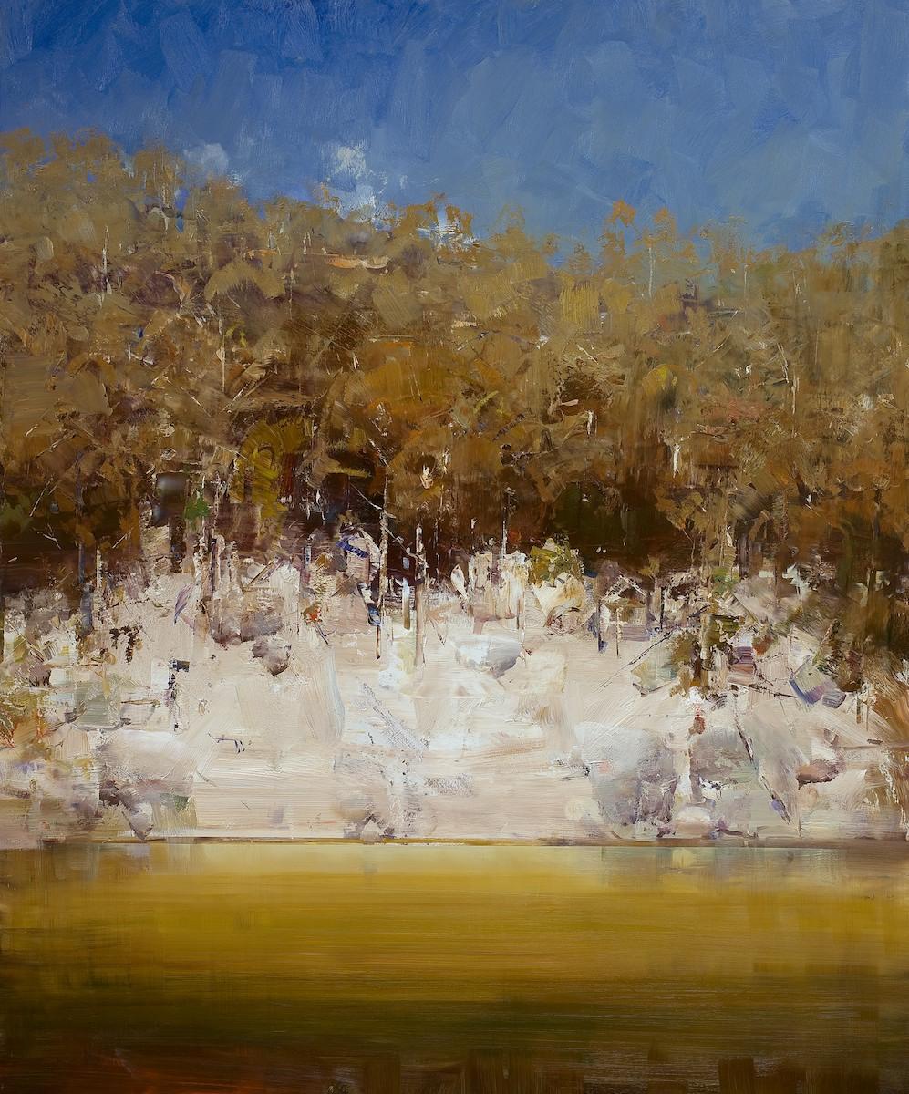 #12422 Ken Knight Lake Jindabyne Foreshores 101cm x 122cm (1-3)