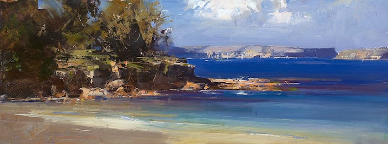Ken Knight Afternoon - Balmoral Beach 30cm x 79cm.jpg