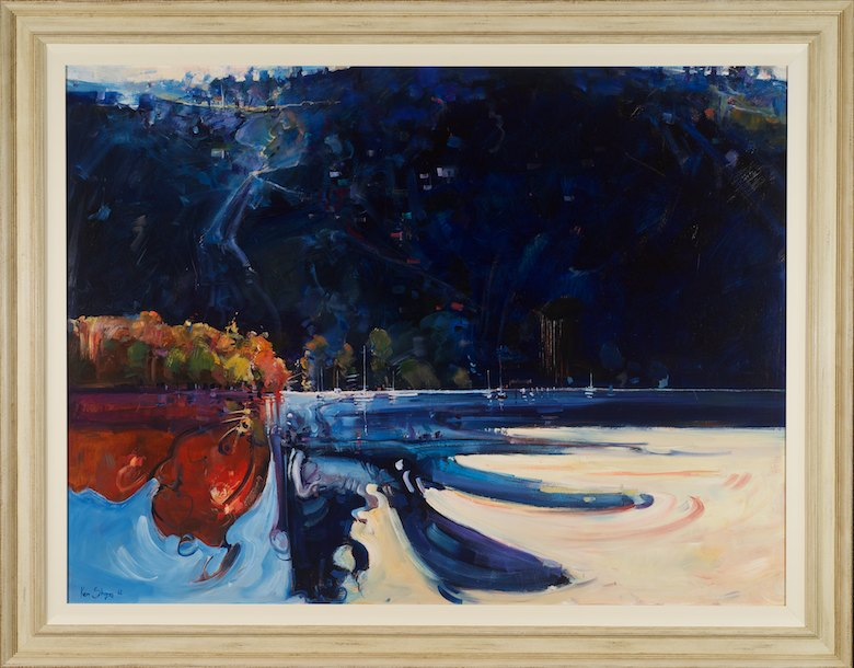 #13530 Ken Strong 'Pittwater Turmoil of first light' 111cm x 142cm $9900.jpg