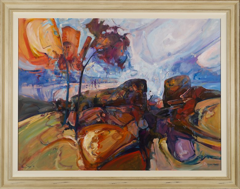 #13515 Ken Strong 'Southwest rocks encounter' 111cm x 142cm $9800.jpg