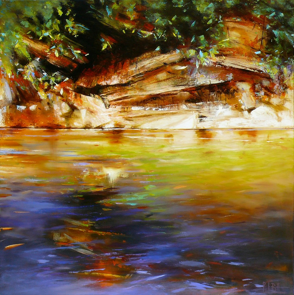 Paul Battams 'Bilby Creek' 150cm x 150cm