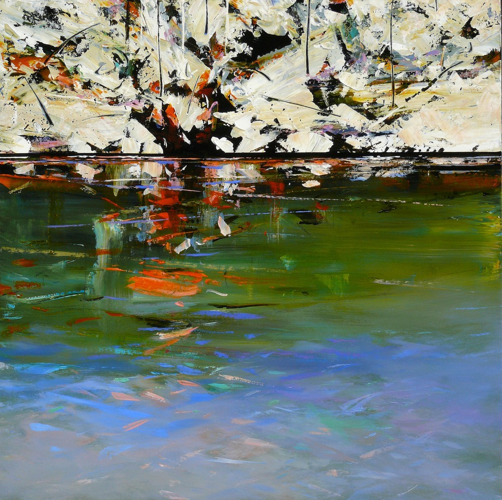 Paul Battams 'Sunset Rock' 101cm x 101cm #14216