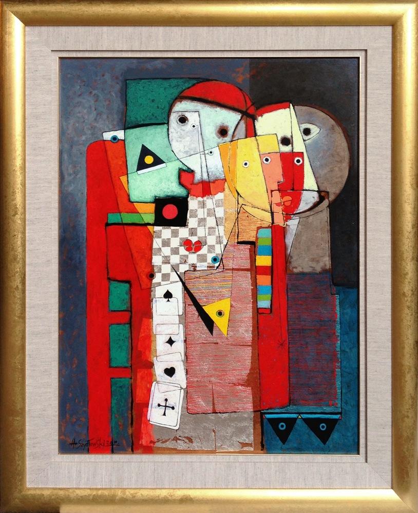 #14254 Henryk Szydlowski   Gamblers   128cm x 103cm