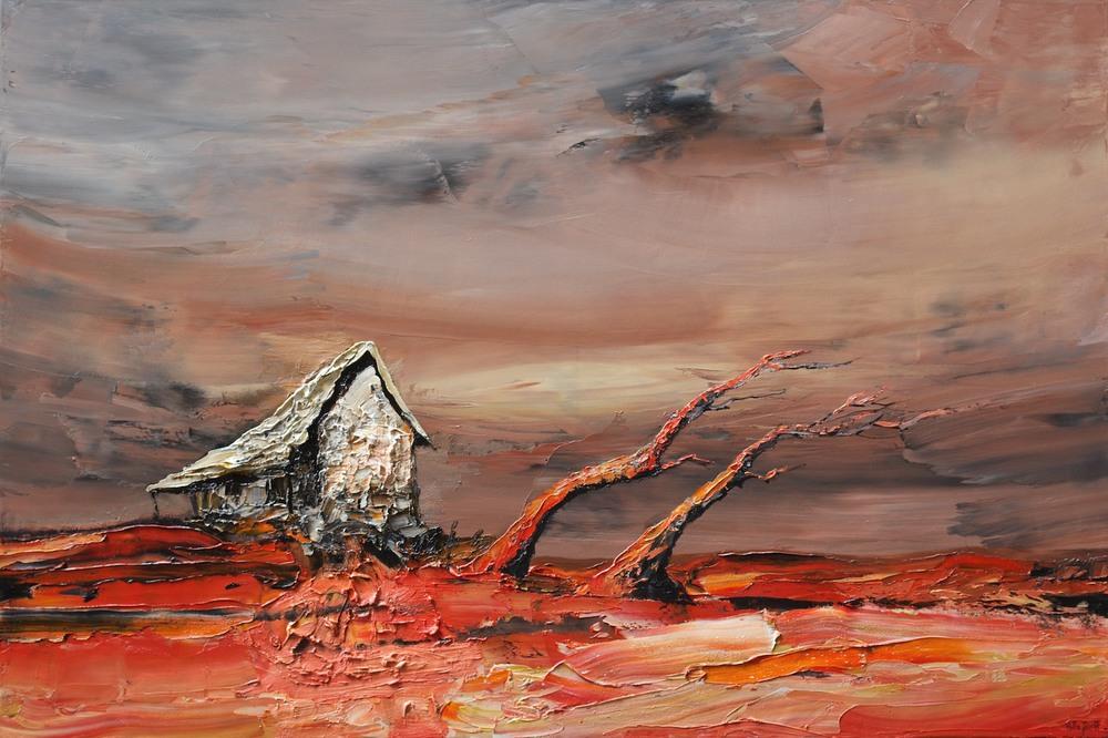 #14420 Palla Jeroff 'Windswept Studio' 100cm x 150cm