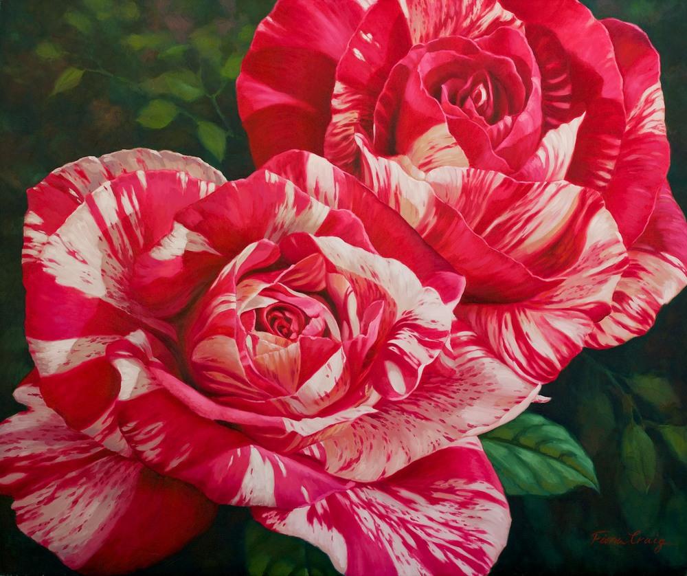Fiona Craig 'Matisse Roses I' 102cm x 122cm#12867