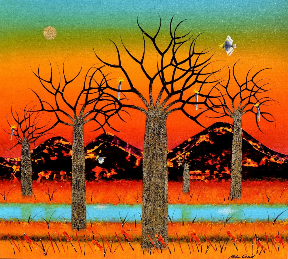 Summer Landscape - Kimberley 2 (Right Part of Diptych) 90 x 100cm Canvas