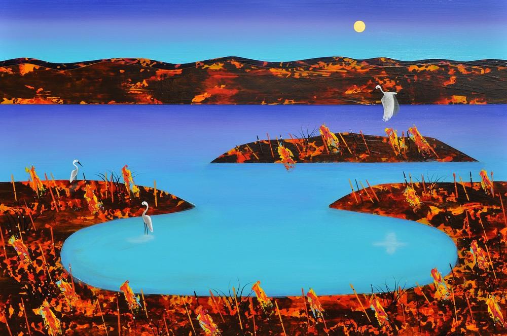 Lagoon - Flight 1 Series 120cm x 180cm canvas