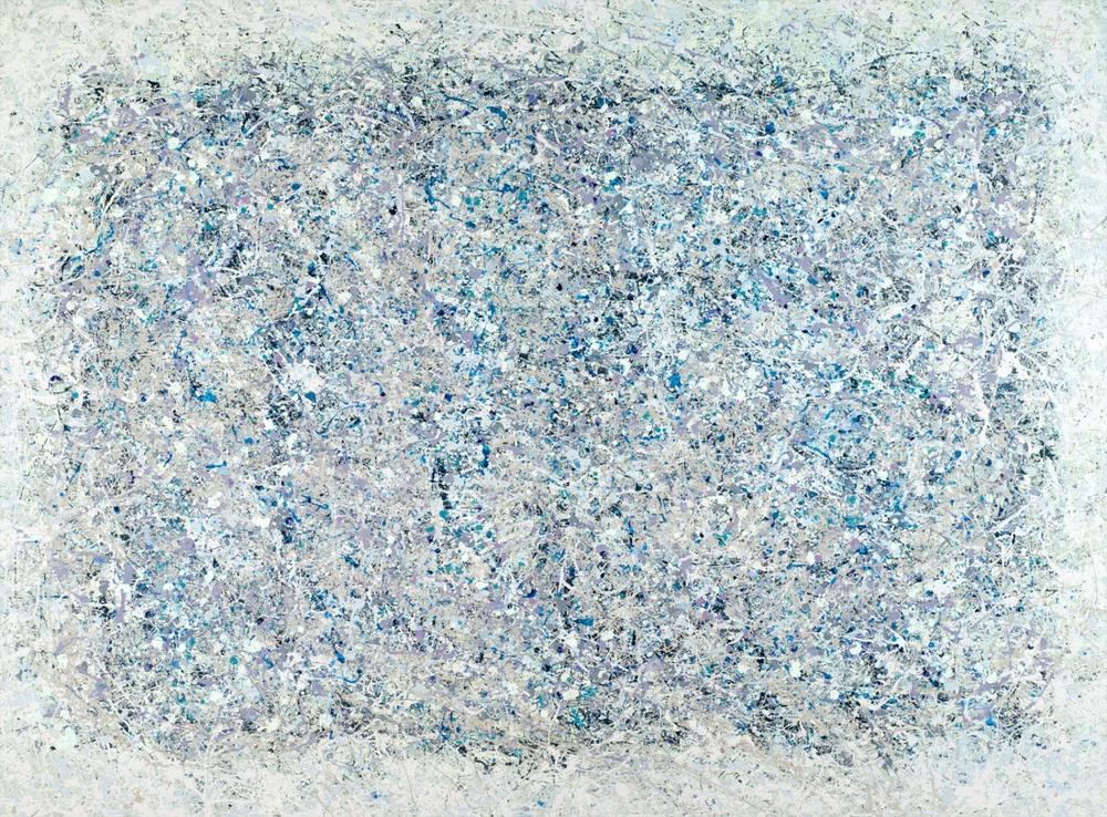 James Shand. Mumbai Blue Muskan. 115cm x 160cm