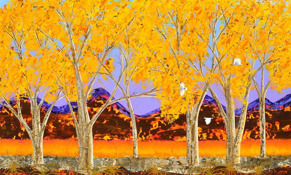 Summer - Brachina Creek 2 90cm x 150cm Mixed media on canvas