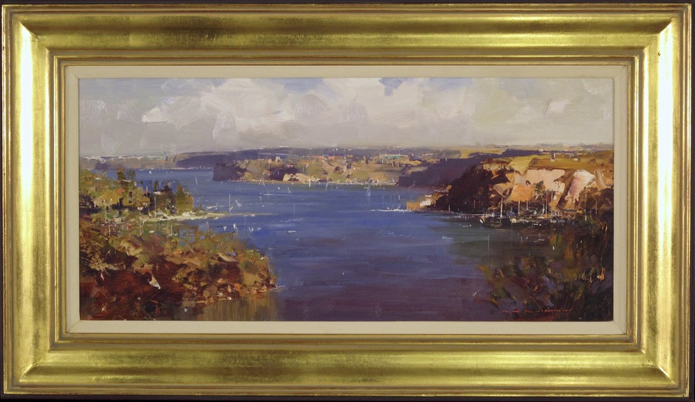 #14451 Ken Knight 'Afternoon Sailing Middle Harbour' Oil On Canvas 54cm x 84cm $4900 (1).jpg