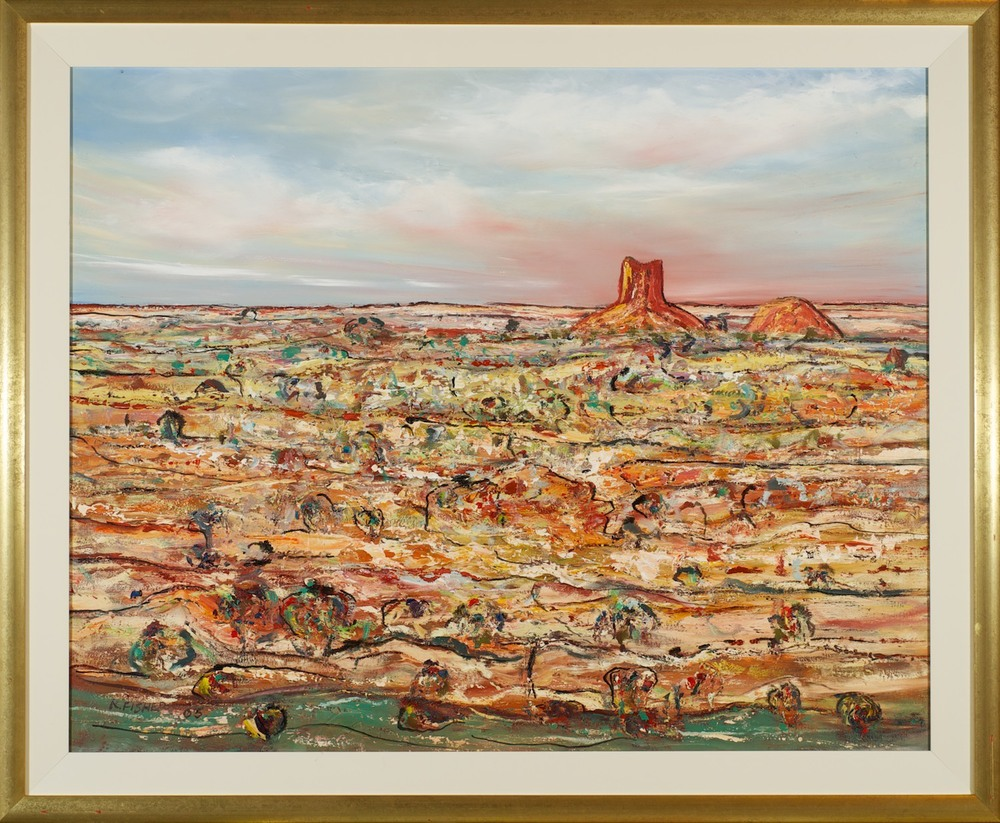 #5586 Robert Fisher 'Alice Springs Chambers Pillar' 96cm x 116cm Was $3800 Now $2400
