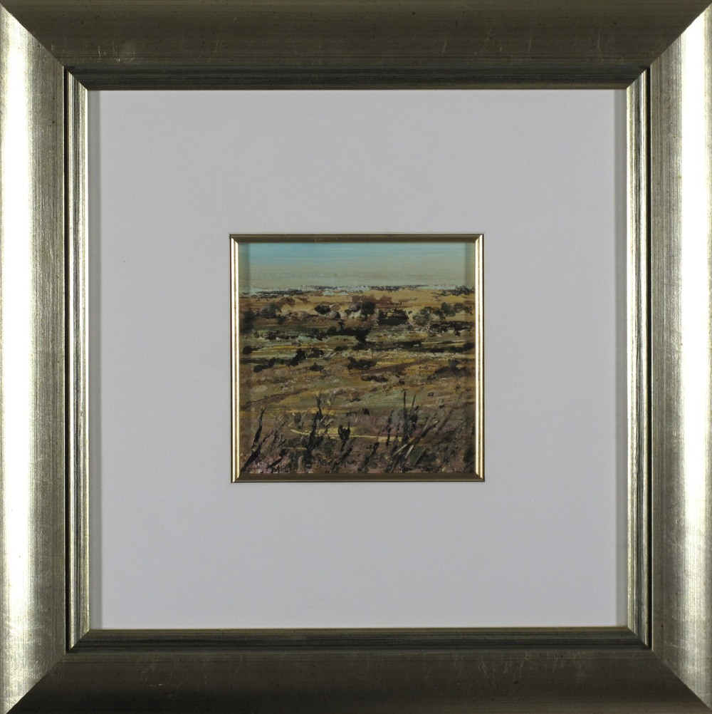 #6847. Peter McQueeney. Study for Far Horizon. 46cm x 46cm. Was $1290 Now $645