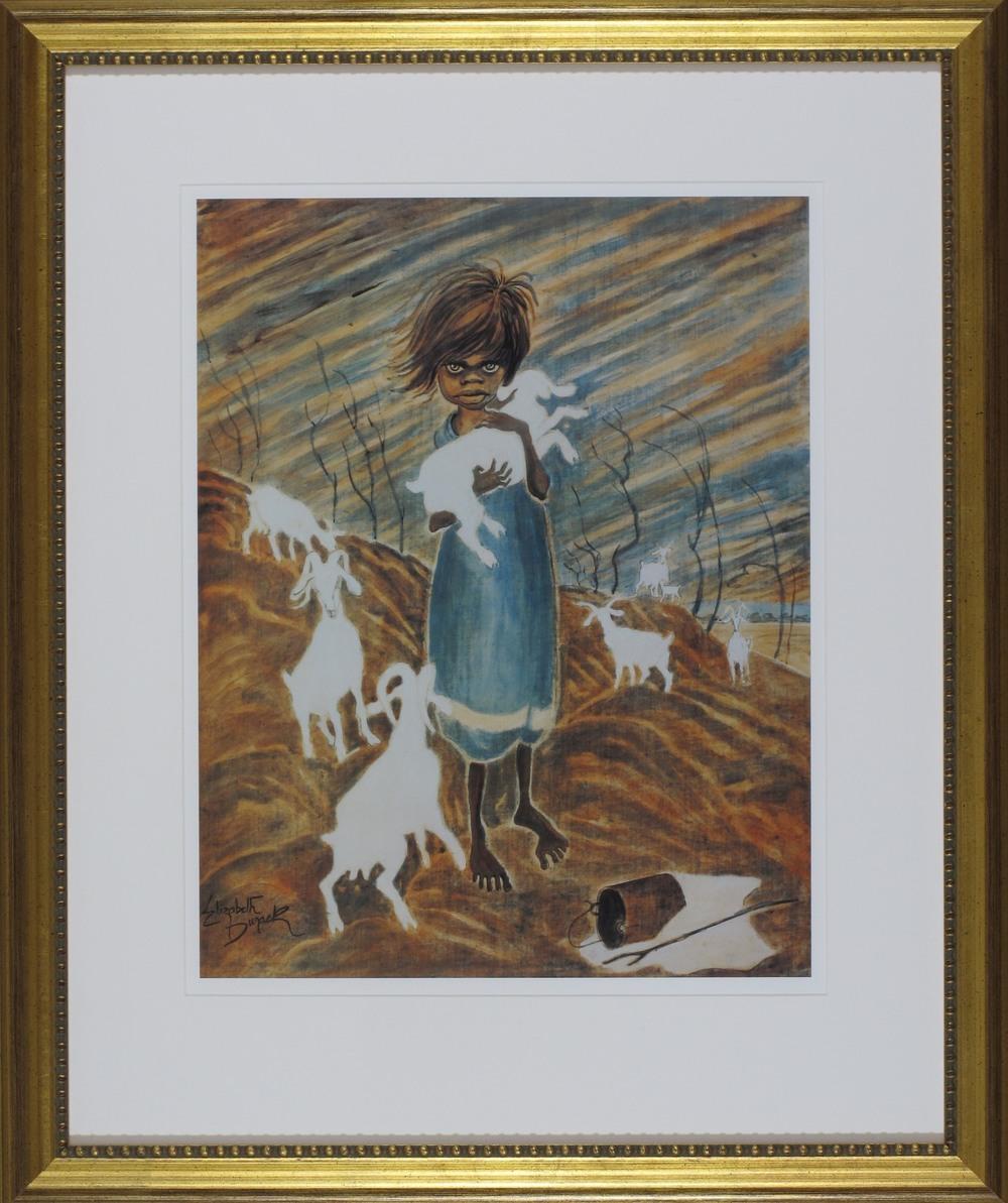 #9404. Elizabeth Durack. The Kid. 78cm x 65cm. Was $495 Now $375