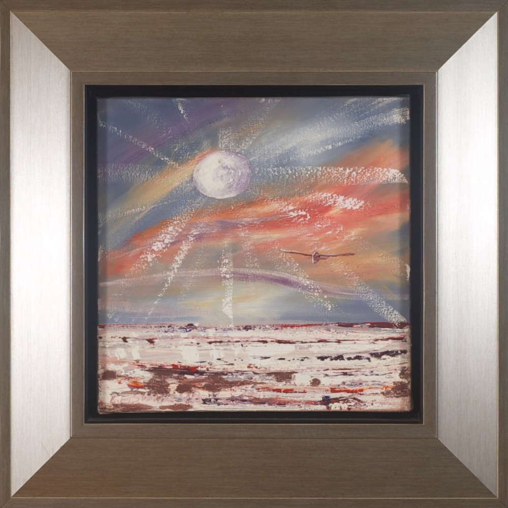 #9667. Robert Fisher. Moon Flight, Lake Eyre III. 52cm x 52cm Was $590 Now $295