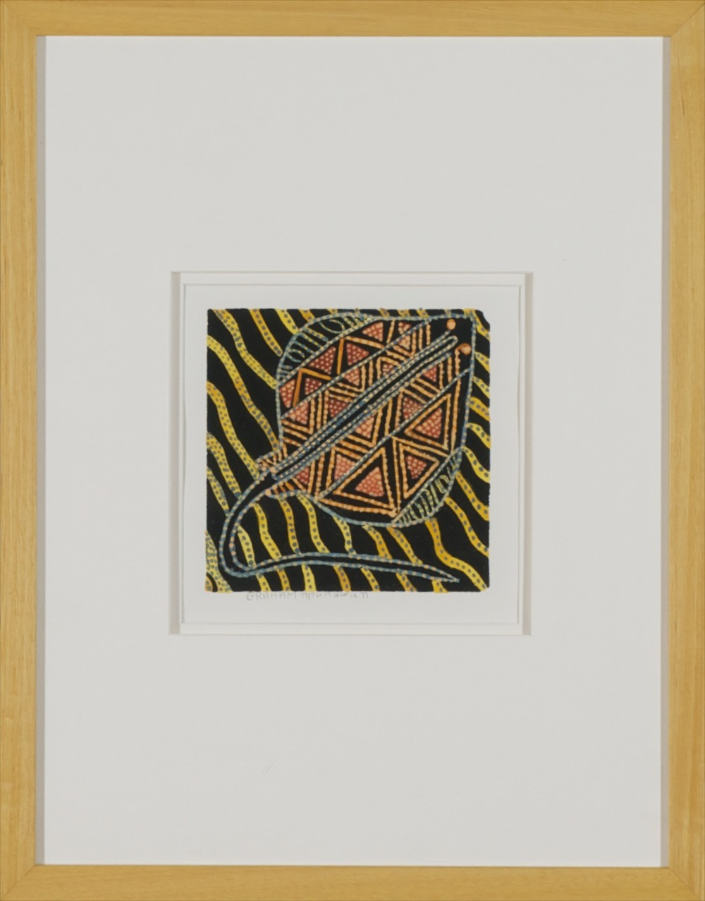 #13105 Graham Tipunguruti 'Stingray' 48cm x 37cm Was $395 Now $197.50