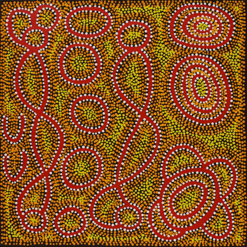 #13612 Margaret Lewis Napangardi 'Mina Mina Dreaming' Was $750 Now $525