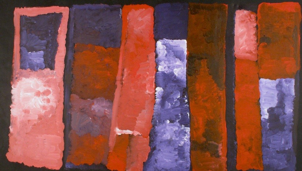 #14397 Kudditji Kngwarreye 'My Country' 96cm x 168cm Was $6800 Now $4500