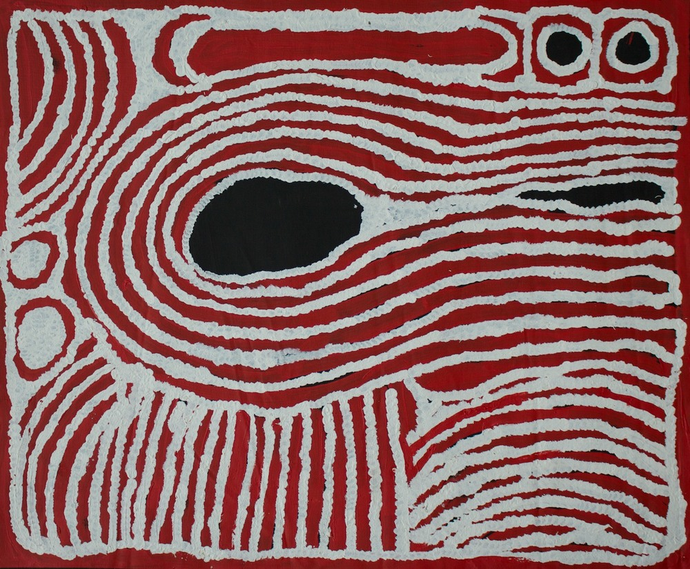 #14809 Ningura Napurrula 'Birth Story' Acrylic 80cm x 95cm Was $2800 Now $2240