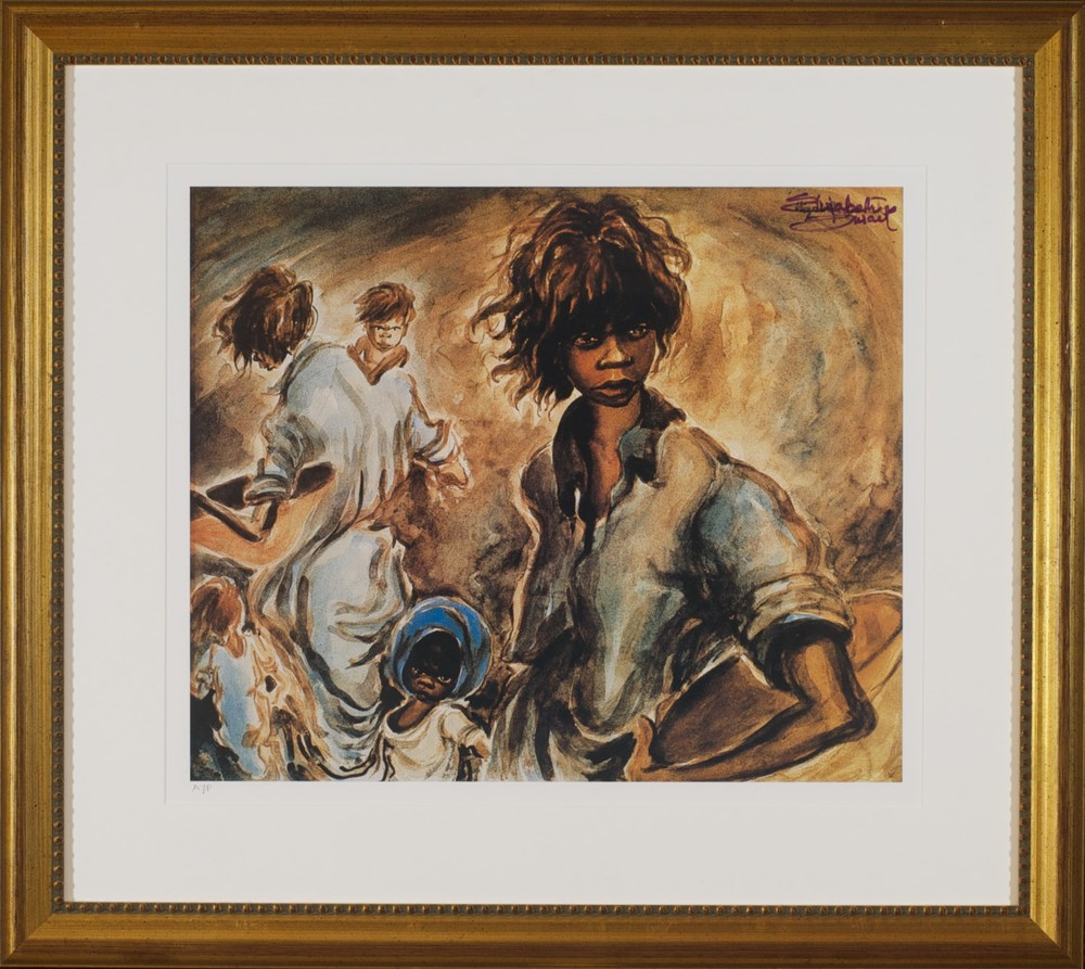 #10496 Elizabeth Durack 'Leitmotif' AP 66cm x 74cm