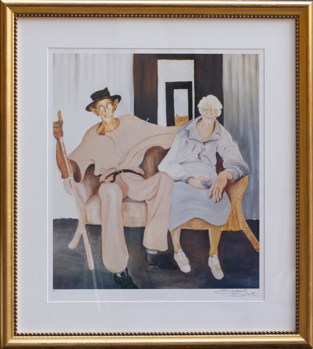 Elizabeth Durack Golden Wedding P/P  59cm x 48cm (89cm x 80cm Framed) Hand signed by artist - Limited Edition, Printers Proof