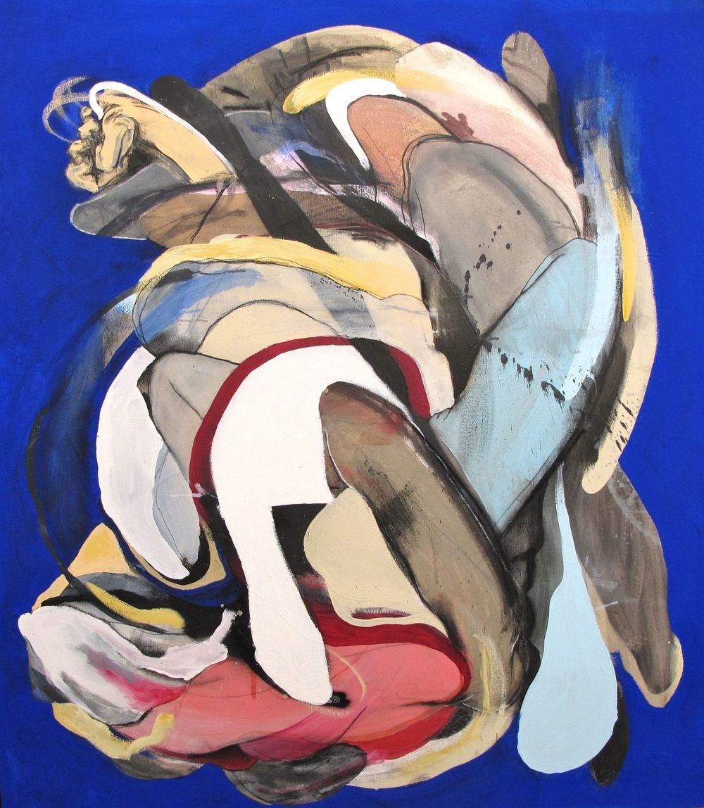 Caleb Reid 'Blue 1' 136cm x 125cm#14826