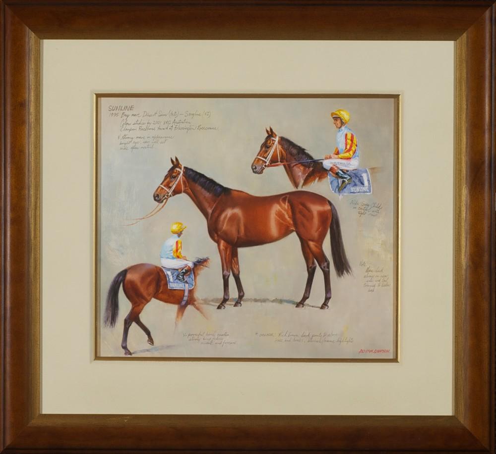 #7393 Alister Simpson ' Sunline' 61cm x 67cm