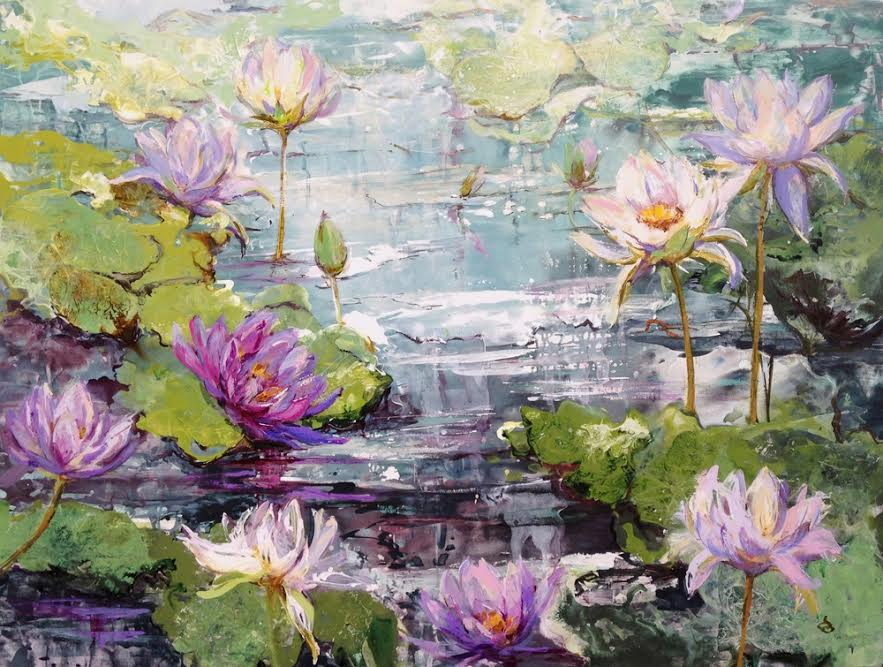 #14200 Diane Ogg 'Waterlilies