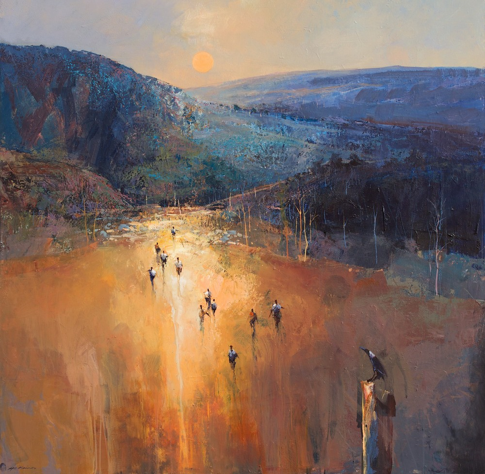 #14757 Mel Brigg 'Arriving through Barrington Tops' 153cm x 153cm