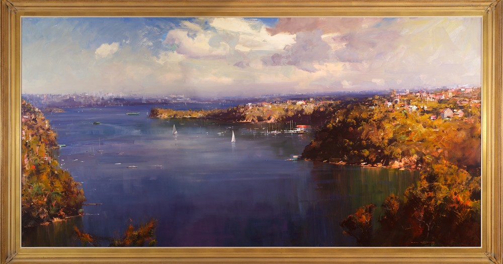 #13343 Ken Knight 'North Head from Georges Heights' 144cm x 266cm
