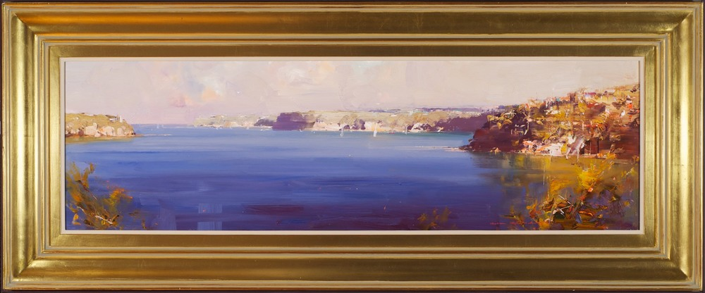 #13380 Ken Knight 'Harbour Headlands looking toward South Head' 51cm x 122cm