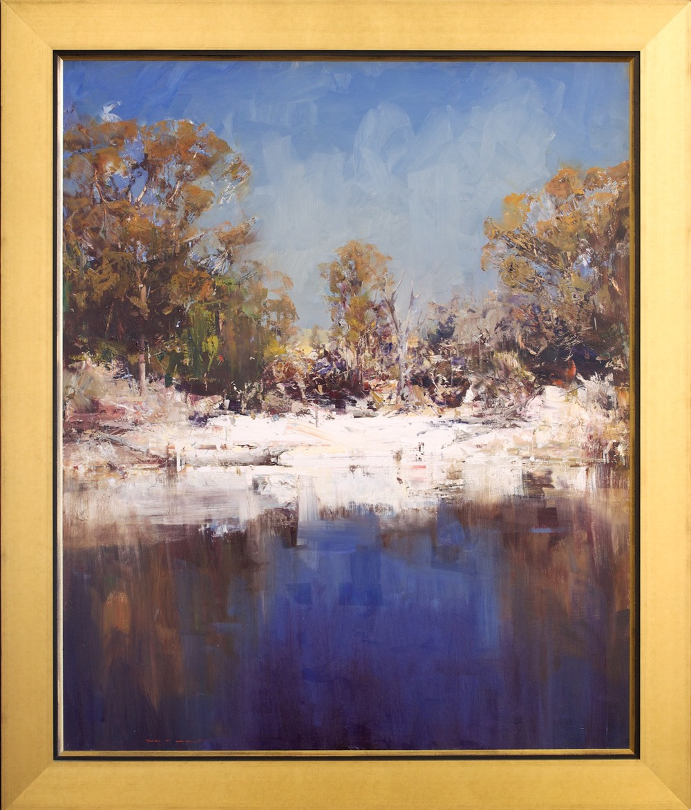#14858 Ken Knight 'Midday at the Waterhole 121cm x 143cm