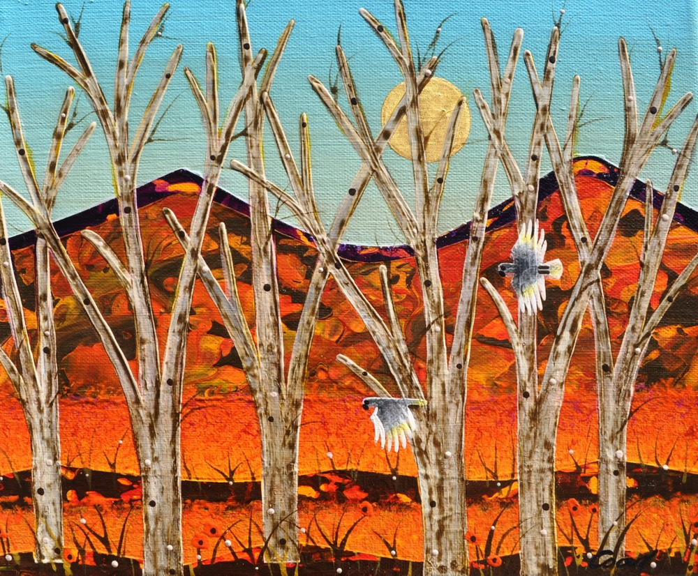 Peter Coad 'Sentinels Study - Flinders Ranges' 25cm x 30m canvas #14540