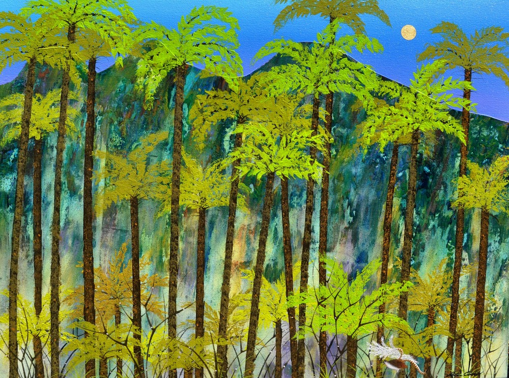 Peter Coad 'Lyre Bird Jamison Valley - Blue Mountains' 90cm x 120cm  #14557