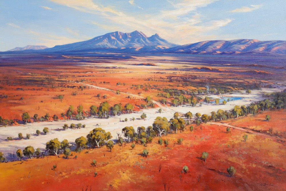 Ted Lewis 'Road through the ranges' 102cm x 153cm Oil #14928