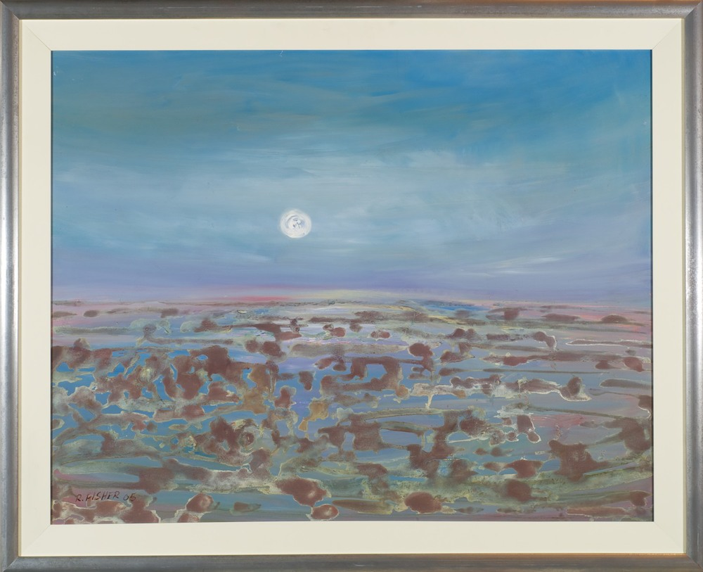 Robert Fisher 'Wetlands - Towards Birdsville' 91cm x 112cm #10452
