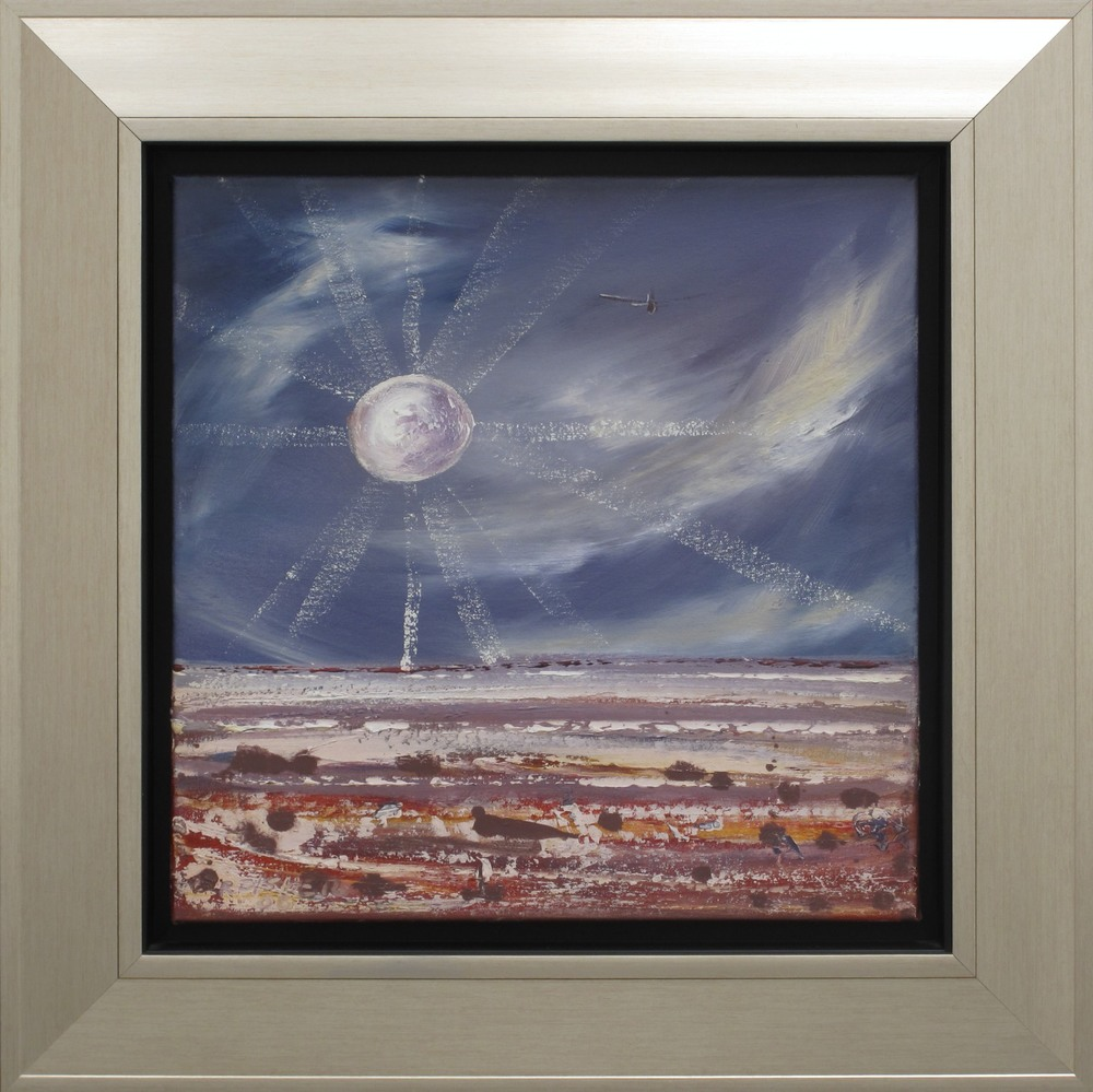 Robert Fisher. Last Flight Lake Eyre Moon III. 66cm x 66cm #9436.