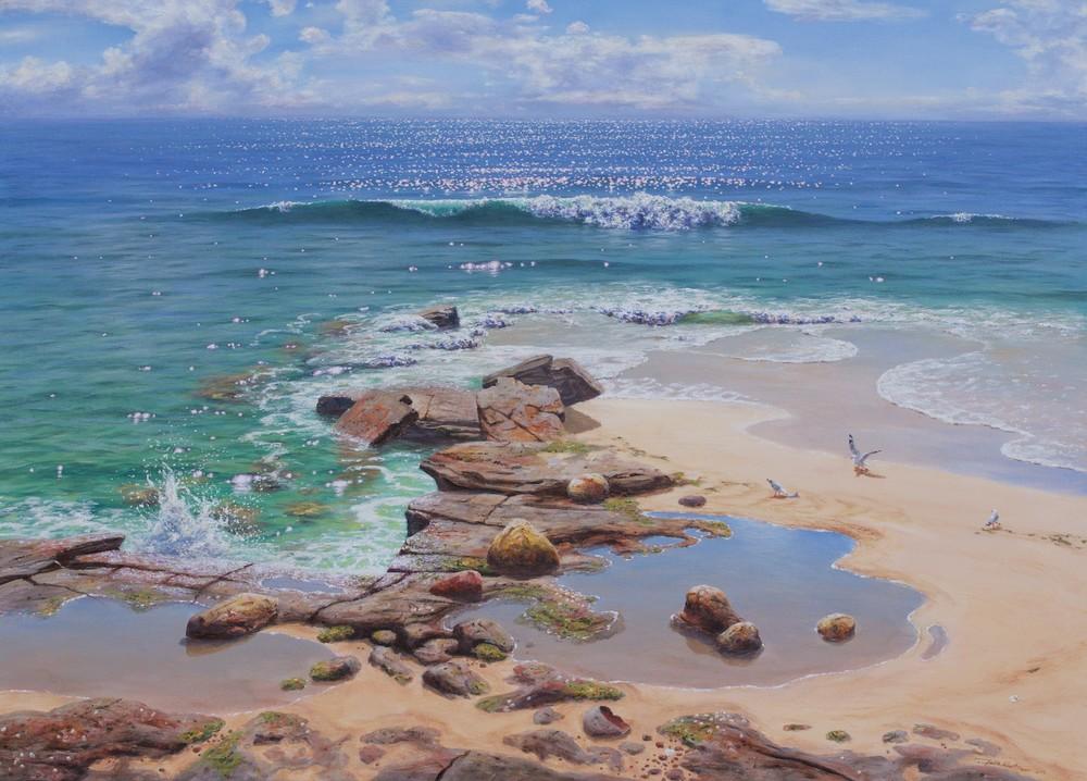 Falk Kautzner 'Seaside Reflections'76cm x 101cm #14956
