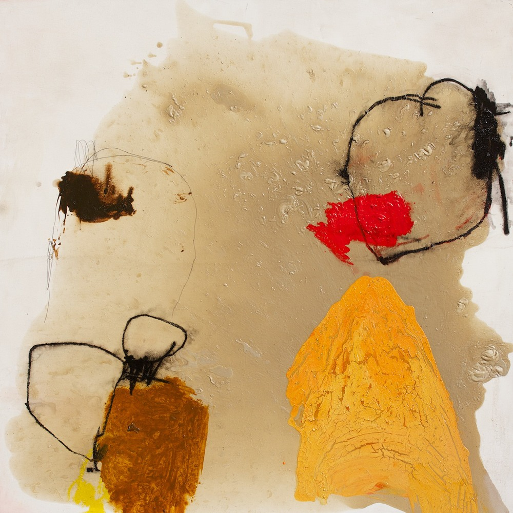 Conchita Carambano 'Quartet' mixed media on canvas  137 x 137cm #14806