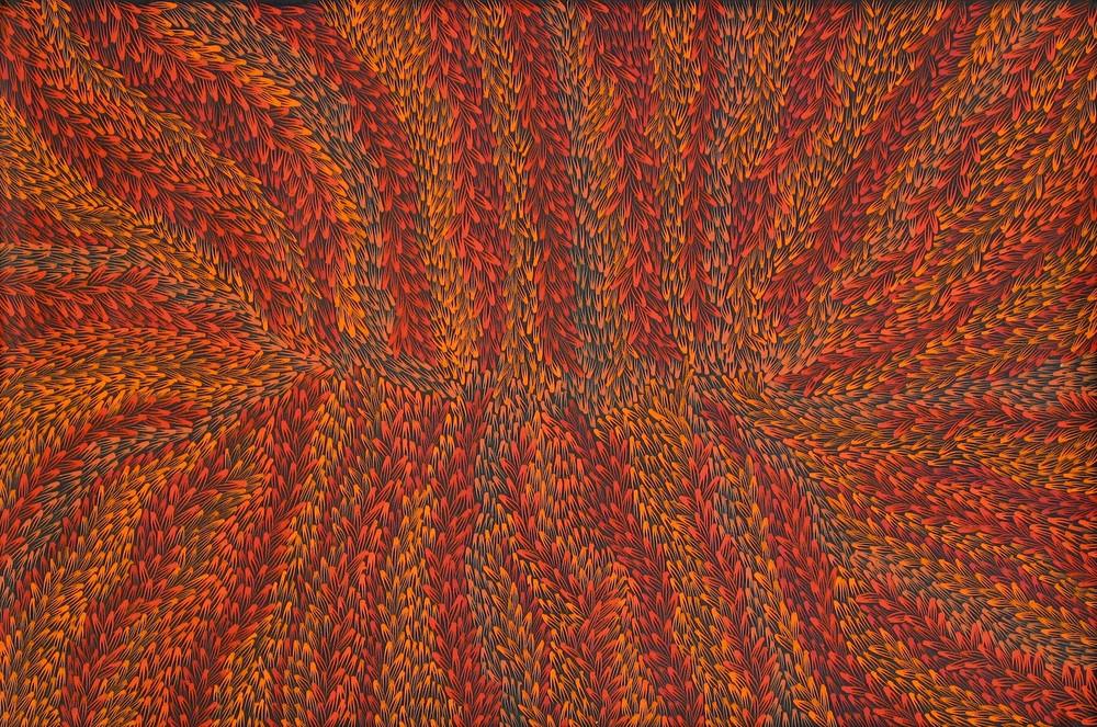 Abie Loy 'Medicine Leaf' Acrylic on Linen 90cm x 60cm #15035