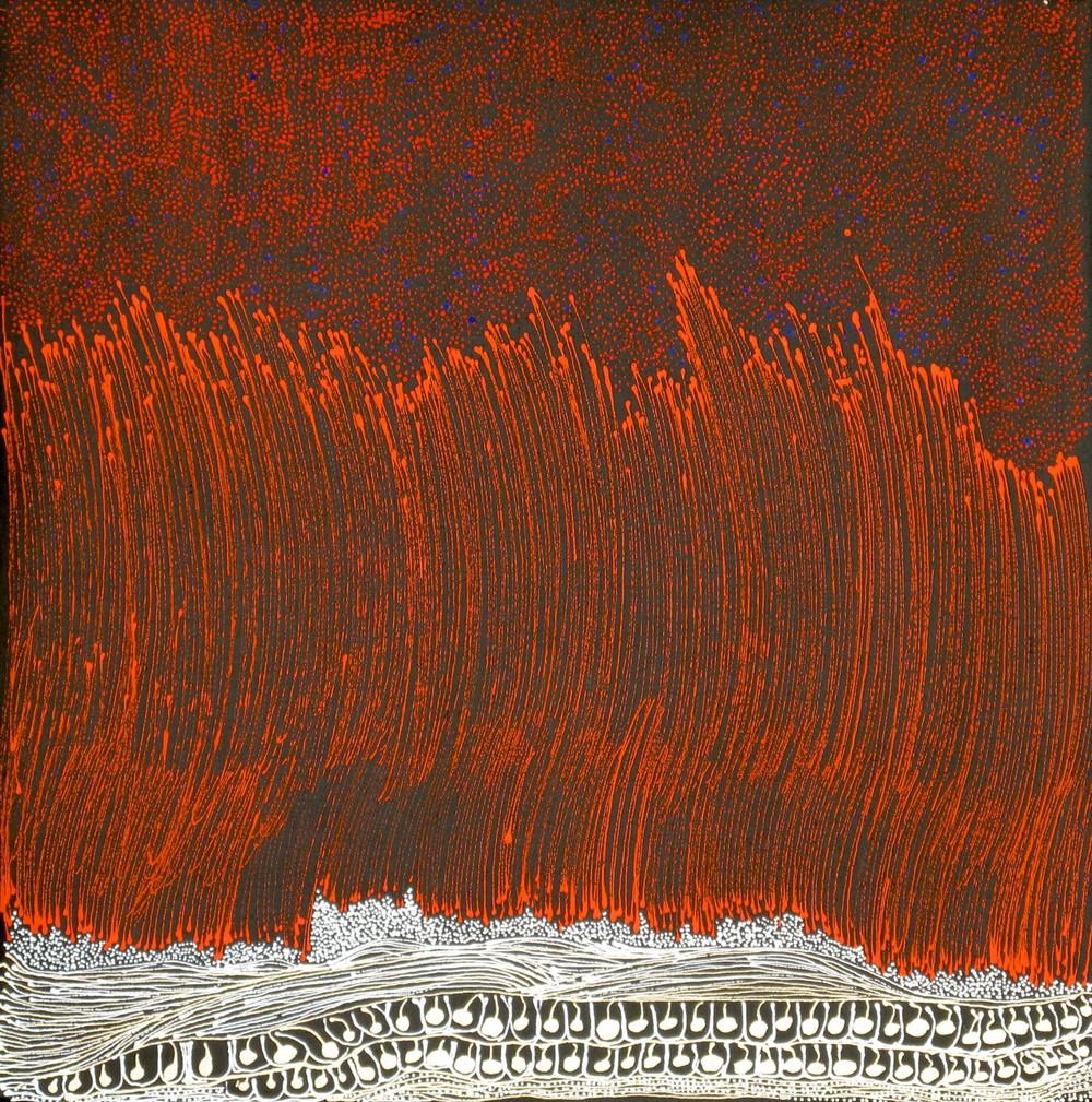 Jorna Newberry 'Walpa Tjukurpa' Acrylic on linen 60cm x 60cm #15070 (2015)
