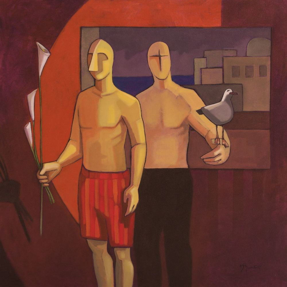 #15219 Sandro Nocentini 'Yesterday' Oil on Canvas 105cm x 105cm $4800.jpg