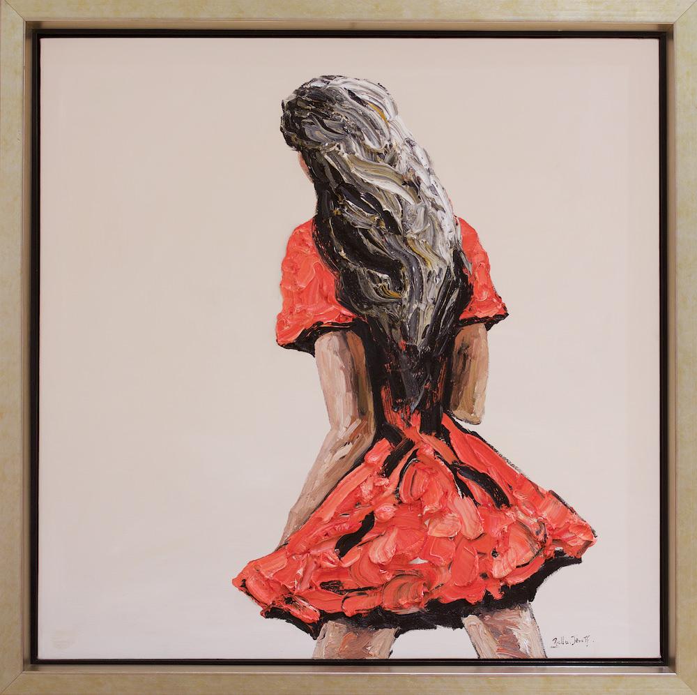 Palla Jeroff 'Red Desert Girl' 136cm x 137cm #15203