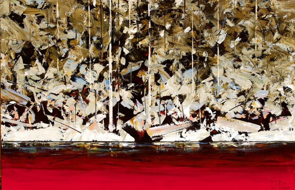 #14689 Paul Battams 'Pearl Rocks' 170 cm x 110cm