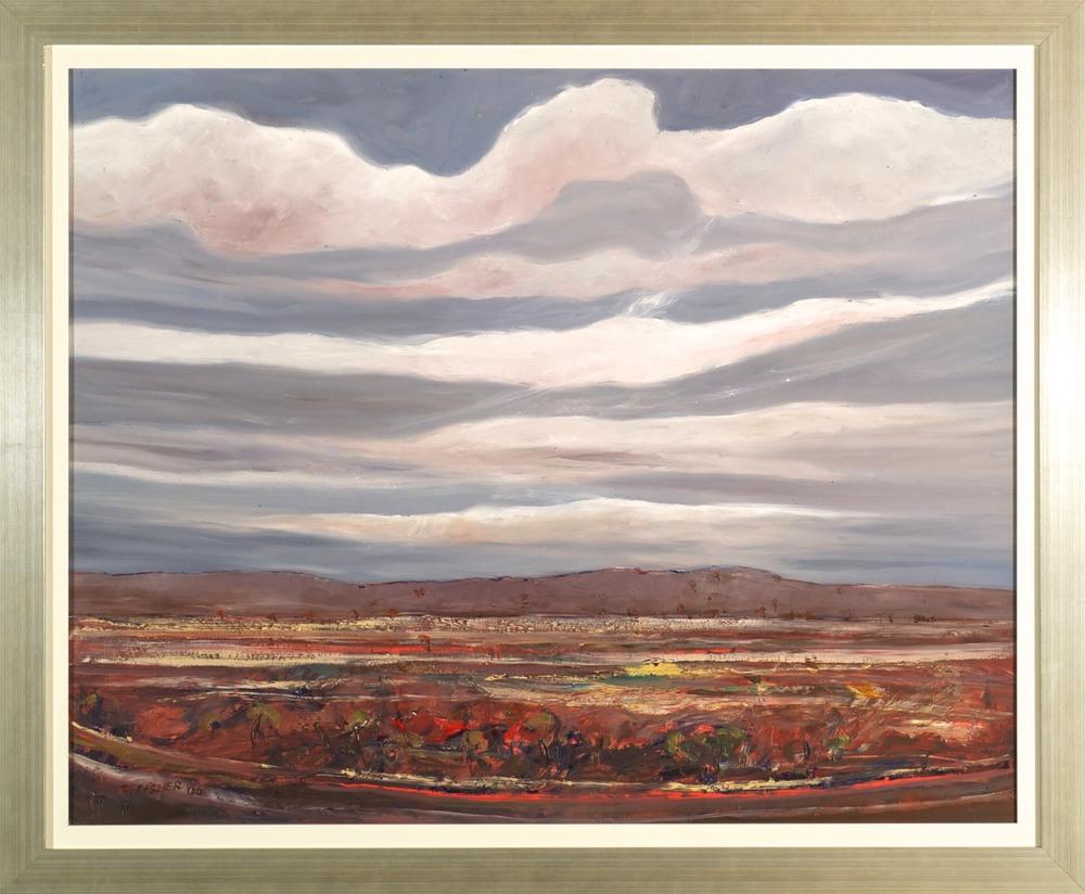 Robert Fisher. Davenport Ranges, Geologist Trek. Oil on Board. 95cm x 115cm.