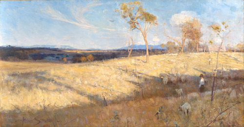 "Arthur Streeton ""Golden Summer, Eaglemont"""