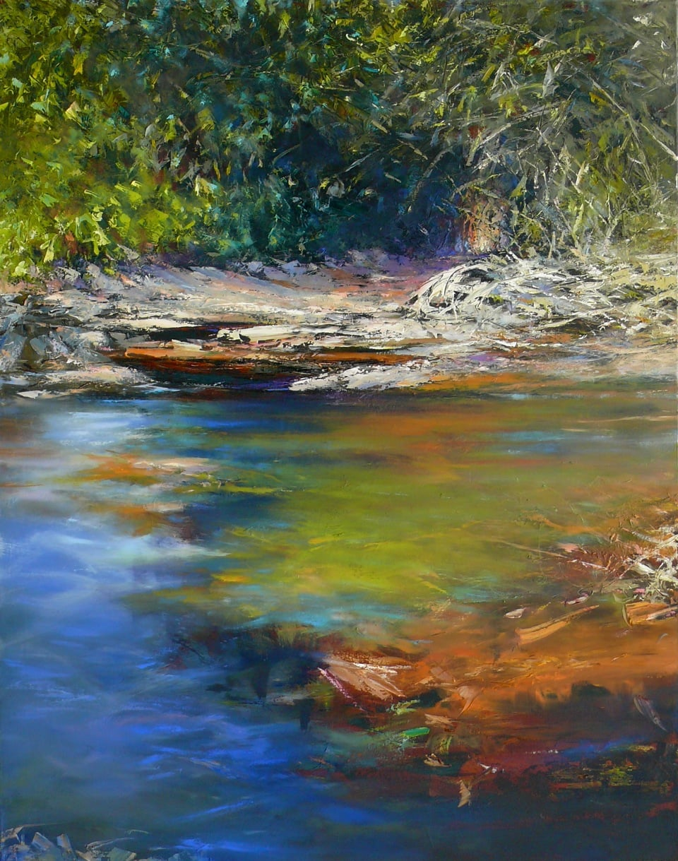 Paul Battams 'Pathway to Oxford Falls' 140x110  #16245